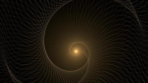 Dynamic Golden Rotational Motion animated Animation