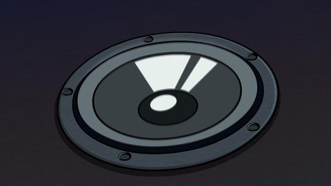 Music Speaker background (Black) Animation