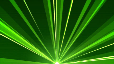 Rotating Light Beams Animation - Loop Green Animation