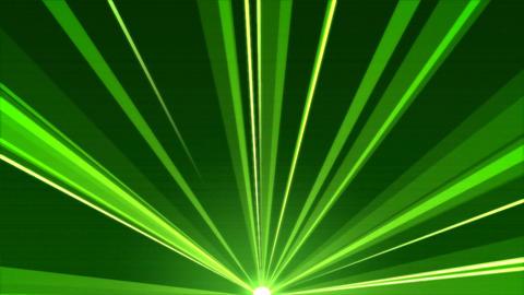 Rotating Light Beams Animation - Loop Green Animation