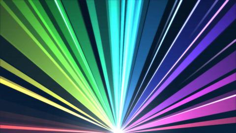 Rotating Light Beams Animation - Loop Rainbow Animation