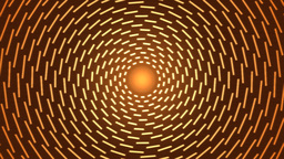 Rotating Lines Of Light Animation - Loop Orange stock footage