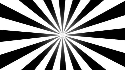 Rotating Stripes Background Animation - Loop Black and White Animation