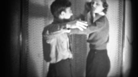 (1940's 8mm Vintage) Man and Women Dancing it Up Footage