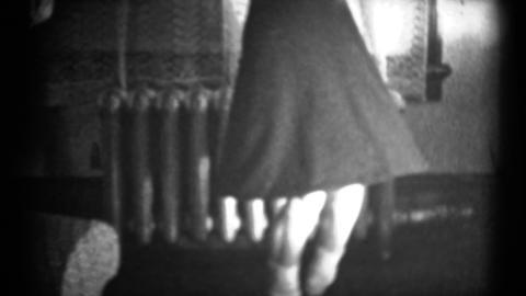 (1940's 8mm Vintage) Man Dancing Scandalously Women Showing Him How Footage