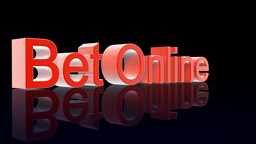 BetOnline text with casino chips dice and cardsfal Stock Video Footage