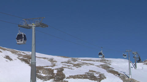 cableway 04 Stock Video Footage