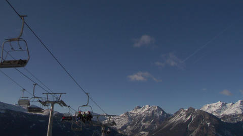 chair lift 01 Stock Video Footage