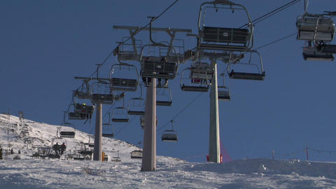 chair lift 03 Stock Video Footage