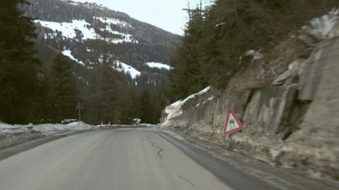 Mountain road 01 Stock Video Footage