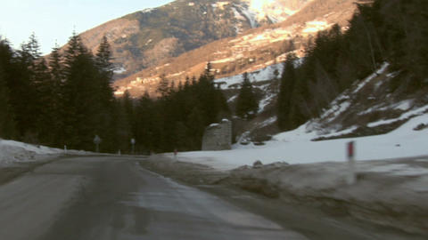 Mountain road 03 Stock Video Footage