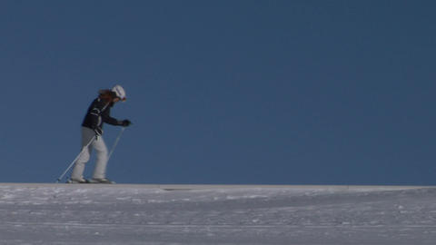 skier 01 Stock Video Footage