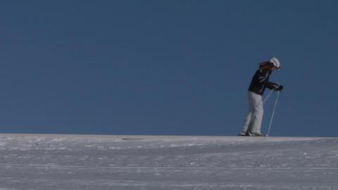 skier 01 Stock Video Footage