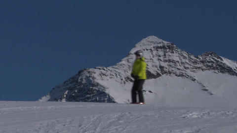 skier 03 Stock Video Footage