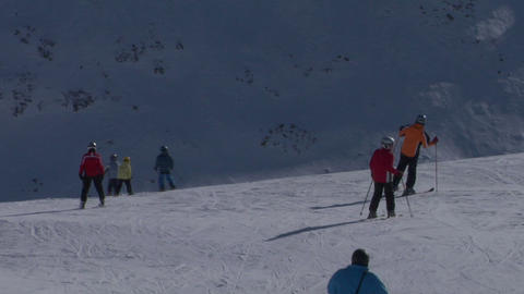 skier 05 Stock Video Footage