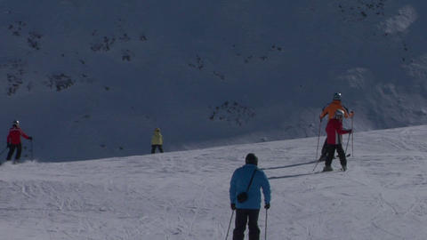 skier 05 Stock Video Footage
