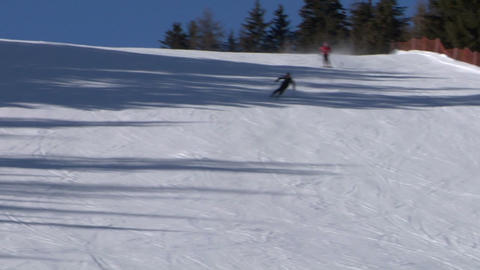 skier slow 04 Stock Video Footage