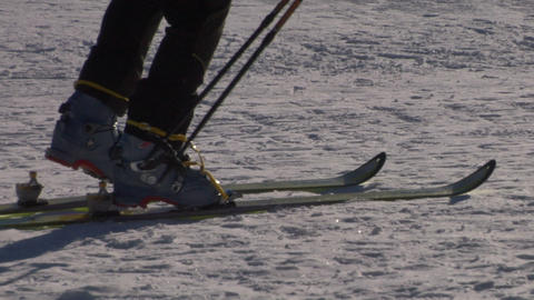 ski boot 02 Stock Video Footage