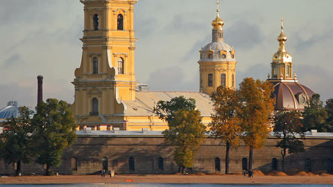 The Peter and Paul Fortress Stock Video Footage