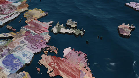 UK Pound Currency Map Stock Video Footage
