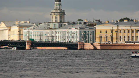 Palace Bridge and quay of Arrow Basil Island Stock Video Footage