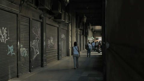 Buenos Aires graffiti walking Stock Video Footage