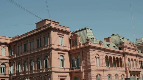 Pink Palace Pan Argentina Stock Video Footage