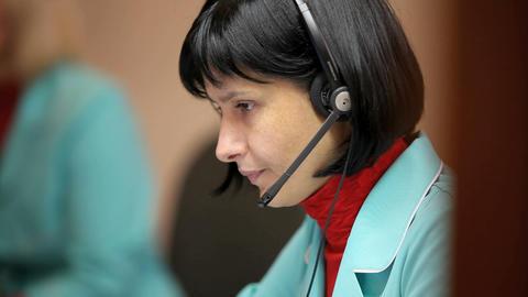 telephone operator Stock Video Footage
