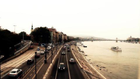 Buda Wharf View Budapest Hungary 04 stylized artsoft filmlook Footage