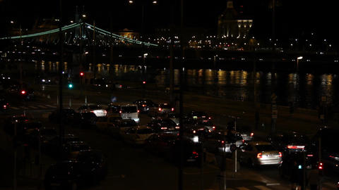 Budapest By Night 01 Stock Video Footage