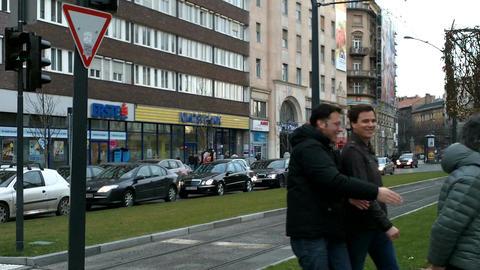 Budapest Hungary Street 01 Footage
