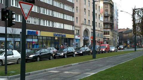 Budapest Hungary Street 01 Stock Video Footage