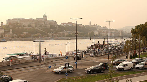 Budapest View with the Castle Of Buda Hungary 01 neutral Stock Video Footage