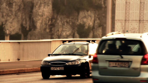 Elizabeth Bridge Traffic Budapest Hungary stylized artsoft filmlook Footage