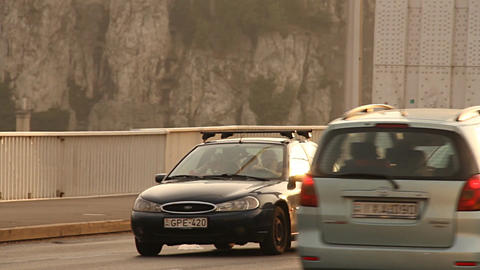 Elizabeth Bridge Traffic in Budapest Hungary 04 ne Footage