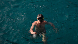 Snorkeling man Stock Video Footage