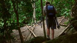 Mountain tourism Stock Video Footage