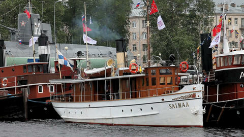 passenger steamer saimaa Stock Video Footage