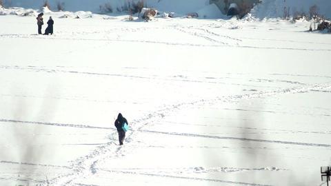 People on ice 5 Stock Video Footage