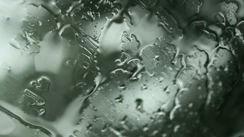 raindrops on windshield Stock Video Footage