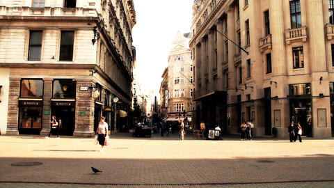 European City Street Budapest Hungary 14 stylized artsoft filmlook Footage