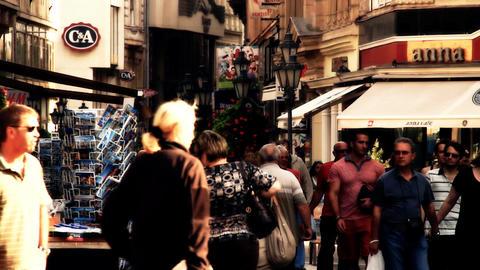 European City Street Budapest Hungary 16 stylized artsoft... Stock Video Footage
