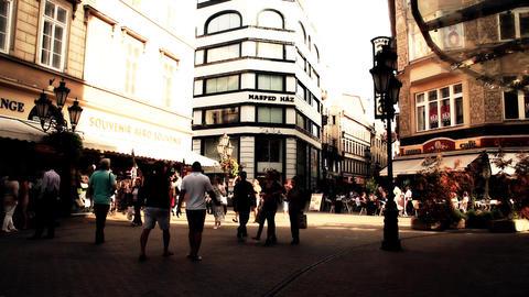 European City Street Budapest Hungary 18 stylized artsoft filmlook Footage