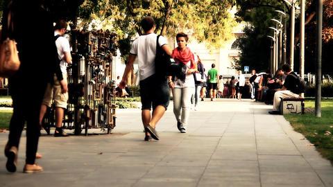 European City Street Budapest Hungary 23 stylized artsoft... Stock Video Footage
