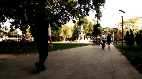 European City Street Budapest Hungary 25 stylized artsoft... Stock Video Footage