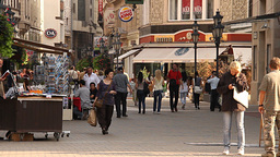 European City Street Budapest Hungary 02 neutral Footage