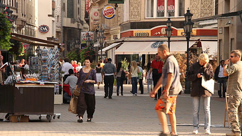 European City Street Budapest Hungary 02 neutral Stock Video Footage