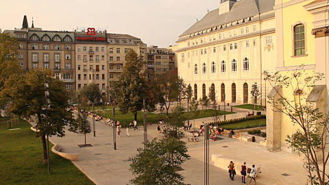 European Square Budapest Hungary neutral Stock Video Footage