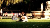 Young People in a Park stylized artsoft filmlook Footage