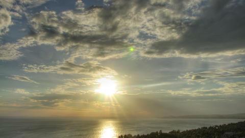 Beautiful sunset time lapse Stock Video Footage